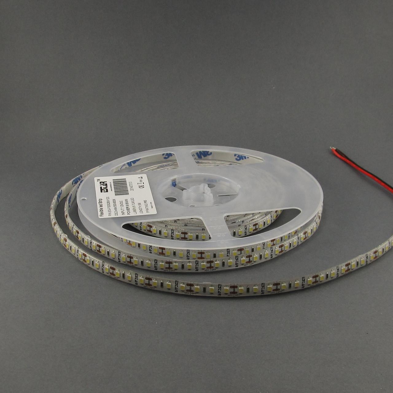 Светодиодная лента ESTAR 3528/120 9,6Вт 12В 3800-4300К Нейтральный белый IP65 премиум