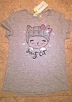 Новые модные футболки для девочки Terranova серый цвет 6-14 лет