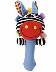 Мягкая игрушка-погремушка Зверята с пищалкой  F1003