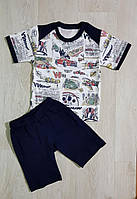 Костюм летний на мальчика Тачки: футболка+шорты