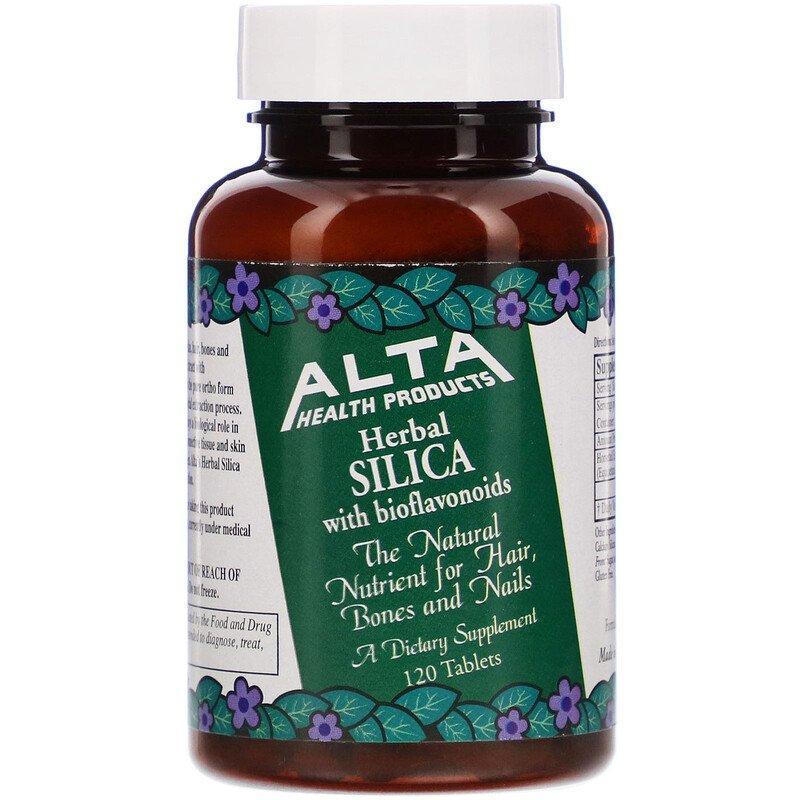 Alta Health, Рослинний діоксид кремнію з біофлавоноїдами, 120 таблеток