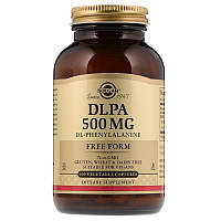 Solgar, DLPA, в свободной форме, 500 мг, 100 растительных капсул