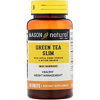 Mason Natural, Зелений чай для схуднення, 60 таблеток