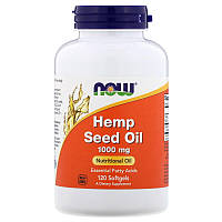 Now Foods, Hemp Seed Oil, Масло из семян конопли, 1000 мг, 120 гелевых капсул