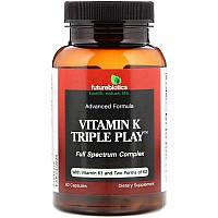FutureBiotics, Витамин K K1 K2 Тройная Функция 60 капсул