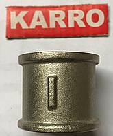 """Муфта 1/2"""" В/В Karro (никель )"""