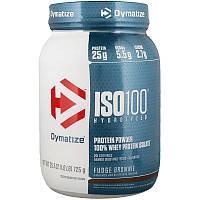 Dymatize Nutrition, ISO100 Гидролизованный 100% изолят сывороточного протеина, шоколадное печенье с помадкой, 725 г (1,6 фунтов)