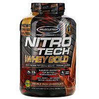 Muscletech, Nitro Tech, 100% Whey Gold, сывороточный протеин в порошке, двойной шоколад, 2,51 кг