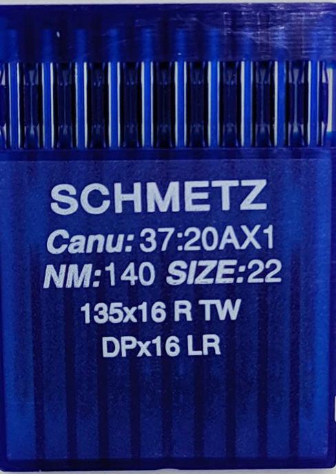 Голки Schmetz для Шкіри DPx16 LR (DPx17 LR) №140 для безпосадкових промислових швейних машин