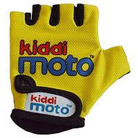 Велосипедные перчатки детские неоновые Kiddi Moto S на 2-4 года