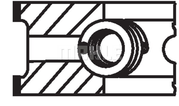 Поршневые кольца бмв е34  Mahle размер 80 520 I 06.1987 - 09.1990