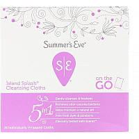 Summer's Eve, Очищающие салфетки 5 in 1, Island Splash, 16салфеток в индивидуальной упаковке