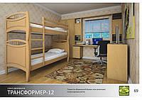 Кровать Трансформер-12 Массив ДУБ