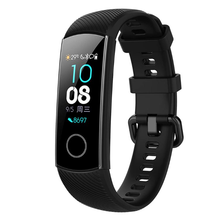 Силиконовый ремешок Primo для фитнес-браслета Huawei Honor Band 4 / 5 - Black