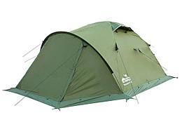 Намет Tramp Mountain 4 м, TRT-024-green. Палатка туристическая 4 месная. Намет туристичний