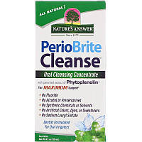 Nature's Answer, PerioBrite Cleanse, концентрат для полоскания рта, мята, 120 мл (4 жидкие унции)