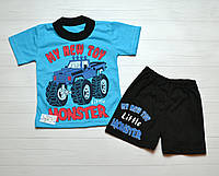 Детский Летний костюм комплект на мальчика Футболочка и шорты 1 год