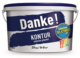 """Фасадная штукатурка """"барашек"""", силиконмодифицированная, DEUTEK Danke! Kontur 15, 25кг"""