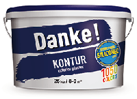 """Фасадная акриловая силиконмодифицированная штукатурка с фактурой """"барашек"""", Danke! Kontur 15, 25кг"""