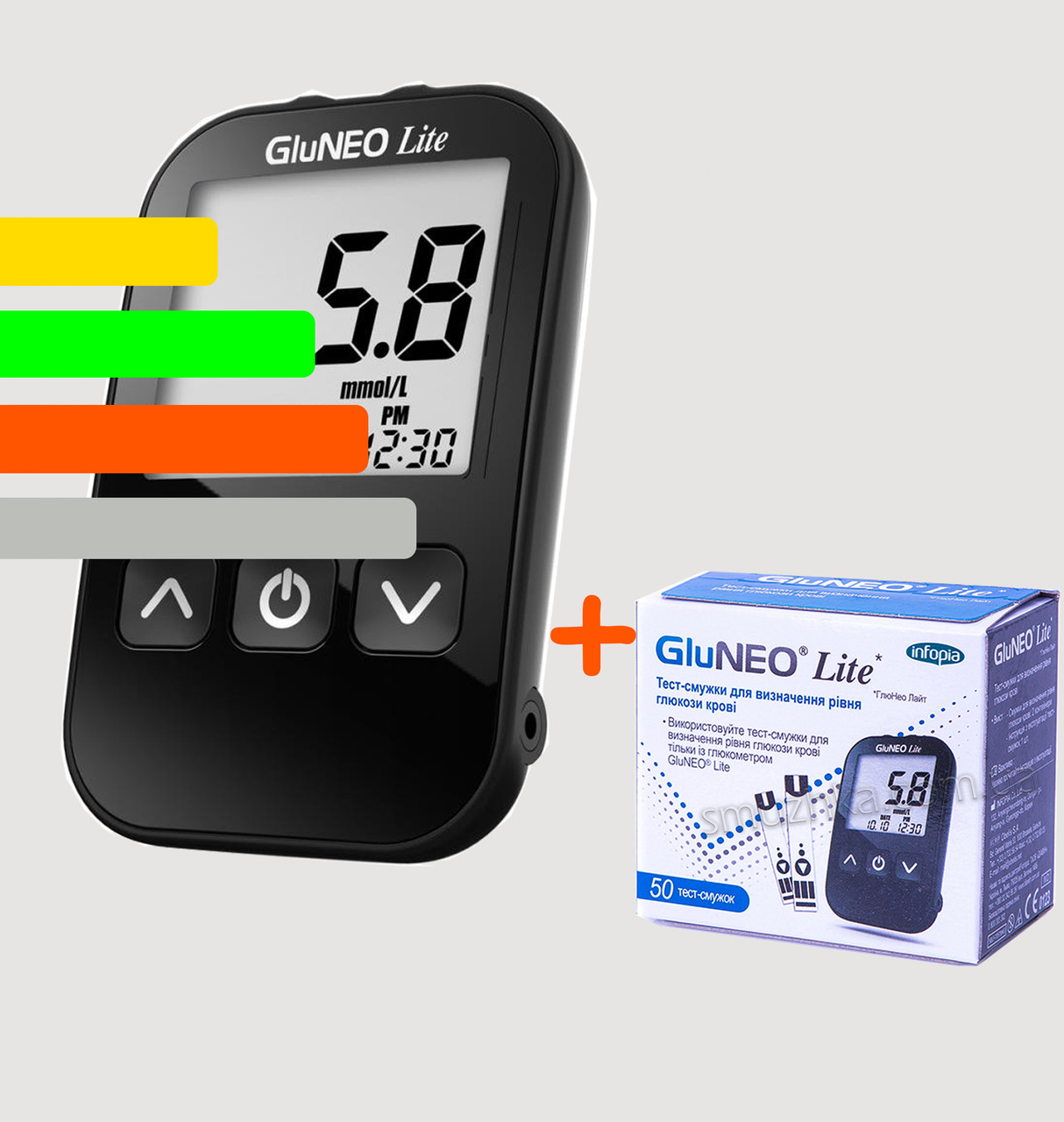 Глюкометр GluNEO Lite - ГлюНЕО лайт+60 тест-полосок