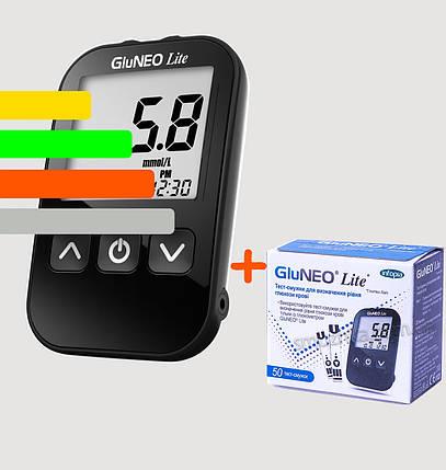 Глюкометр GluNEO Lite - ГлюНЕО лайт+60 тест-полосок, фото 2