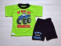 Детский Летний костюм комплект на мальчика Футболочка и шорты 4 года