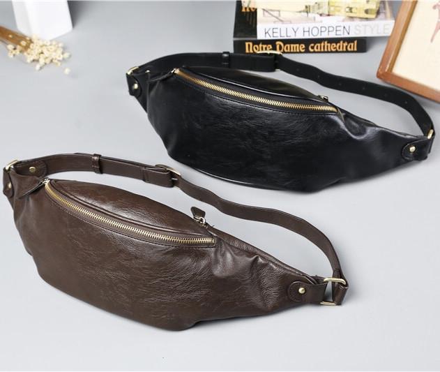 Мужская кожаная сумка. Модель 61372