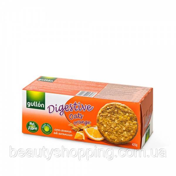 Овсяное печенье Digestive oats orange 425g Gullon Испания