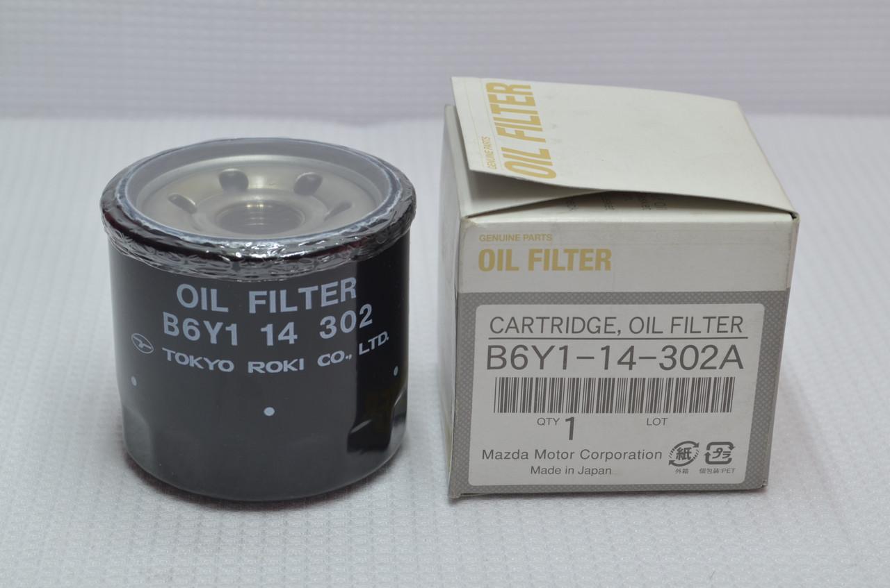 Оригинальный масляный фильтр MAZDA  B6Y1-14-302A