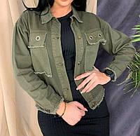 Красивая джинсовая куртка,джинсовка цвет хаки,ветровка, читайте описание товара!!!