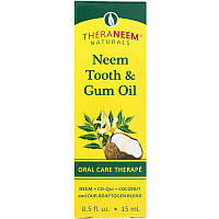 Organix South, TheraNeem Naturals, масло Ним для зубов и десен, лечебная гигиена полости рта, 0.,5 ж. унц. (15 мл)