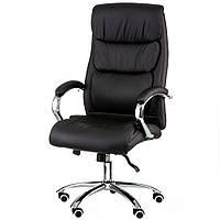 Кресло для руководителя Eternity black в черной коже