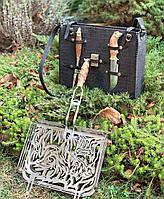 """Мангальный набор с решеткой-гриль """"Кабан"""" 340х260х50 ‒ оригинальный подарок мужчине"""