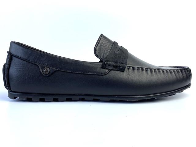 Мужские мокасины кожаные черные классические весенняя обувь ETHEREAL Classic Rem Black by Rosso Avangard