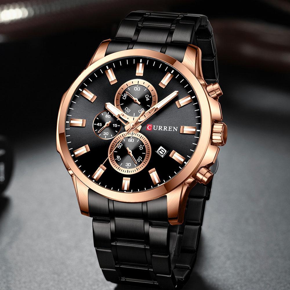 Мужские часы Curren (black-bronze)