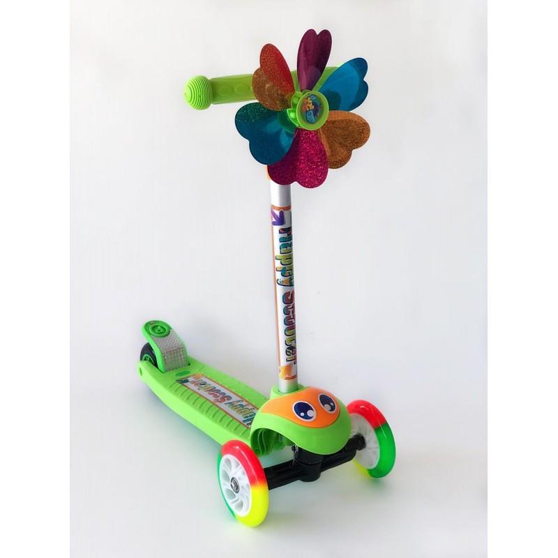 Самокат детский Scooter BQ 921 с пропеллером | Зеленый