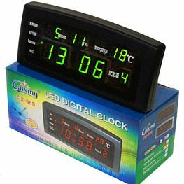 Настольные часы Caixing CX 868  электронные часы