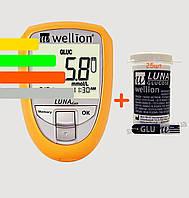 Глюкометр Луна Веллион Дуо - Wellion Luna Duo +25 тест-полосок