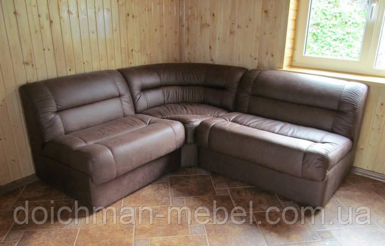 """Кожаный модульный диван """"Визит-Ка"""" для гостевой комнаты"""