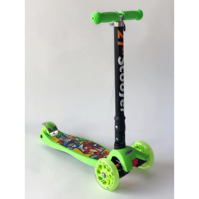 Самокат детский Scooter 03 MZ с подсветкой колес   Зеленый