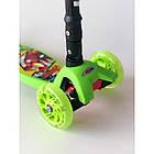 Самокат детский Scooter 03 MZ с подсветкой колес   Зеленый, фото 2