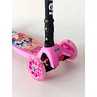 Самокат детский Scooter 03 MZ с подсветкой колес   Розовый, фото 2