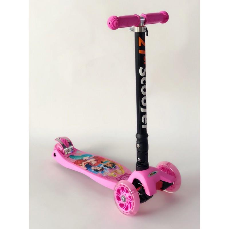 Самокат детский Scooter 03 MZ с подсветкой колес   Розовый