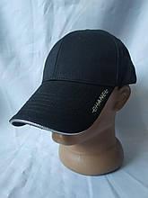 Стильная черная мужская кепка-бейсболка с надписью Шанель