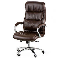 Кресло для руководителя Eternity brown в коричневой коже