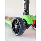 Самокат дитячий Scooter Pro 403 MZ-1 з підсвічуванням коліс   Зелений, фото 2