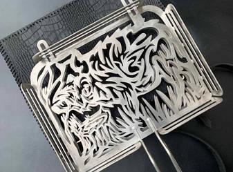 """Дизайнерська решітка-гриль """"Кабан"""" 340х260х50 - крутий подарунок чоловікові до будь-якого свята, фото 2"""