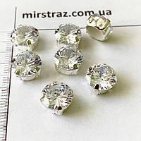 Цирконий в цапах 8mm Crystal