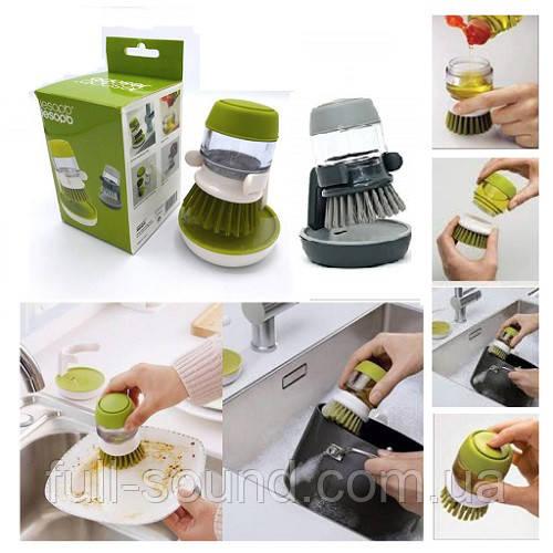 Щетка для мытья посуды с резервуаром