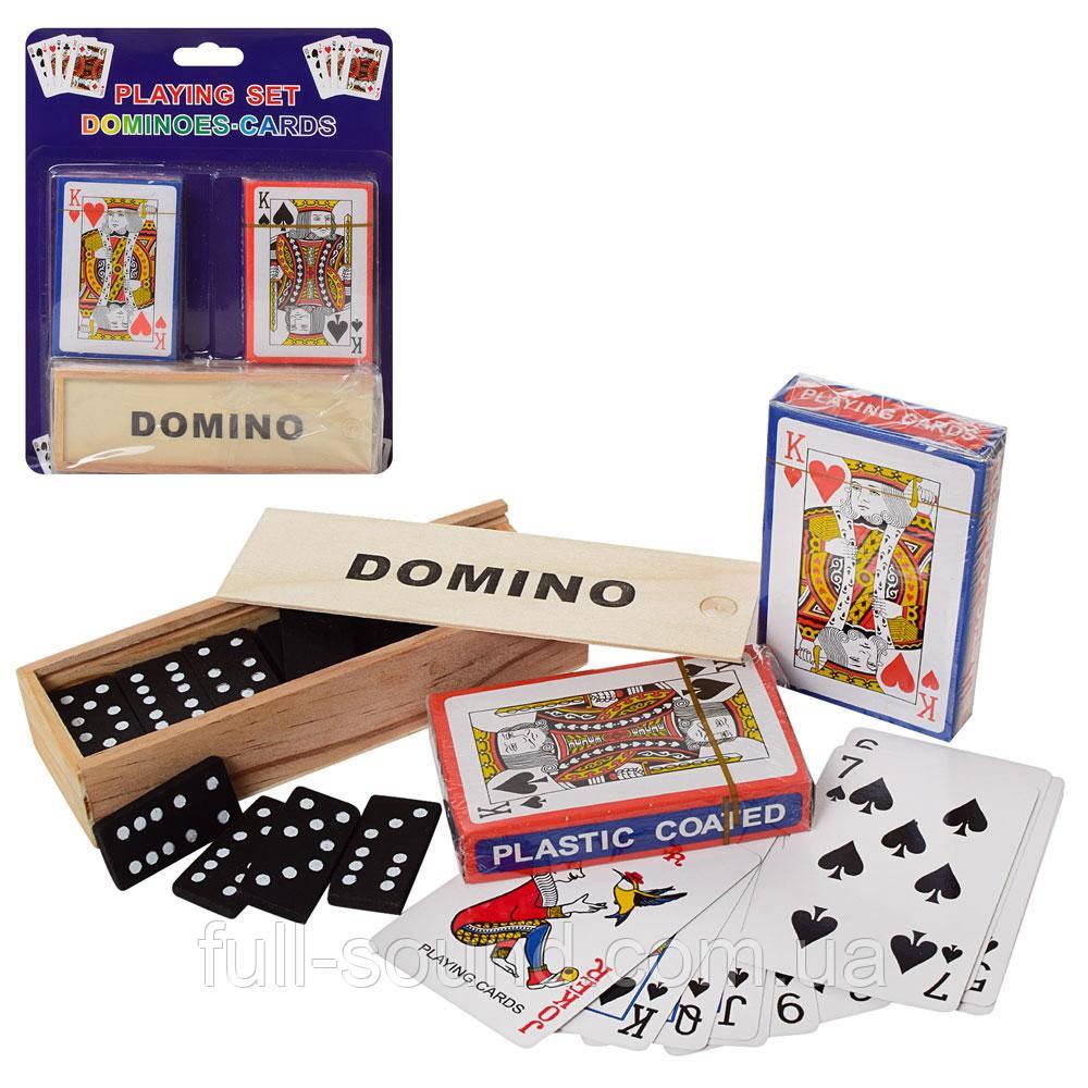 Набір настільних ігор доміно і гральні карти 2 в 1 A140